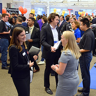 Students packed the SICE Fall Career Fair pursuing their tomorrow.